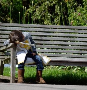 resting knight at Kew gardens