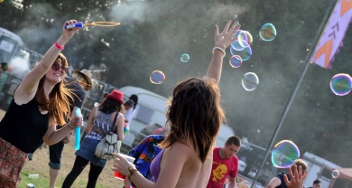 Bubbles at the One Love Festival