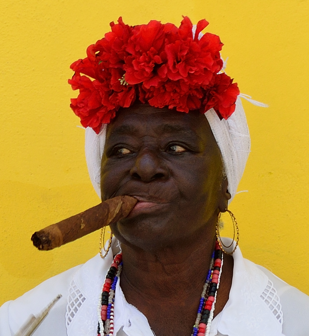Friday Faces 21  Cuban Cigar Chewing Woman  It Had To -3973