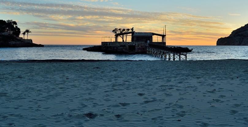 sunset on mallorcan beach