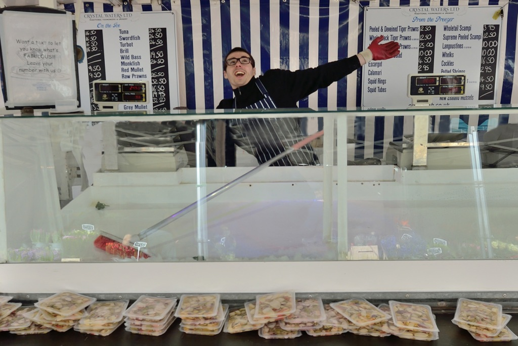 Fishmonger's joy at the end of the day (1 of 1)
